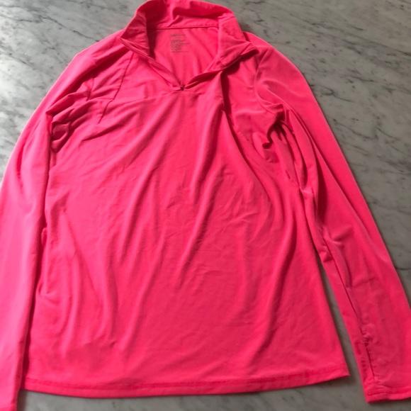 09f94e1c GAP Tops | Body Fit Quarter Zip Pink Workout Top Jacket | Poshmark